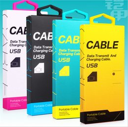 Wholesale Retail Packaging Paper - Universal USB Cable Retail Package Boxes USB Data Line Charger Adapter PVC Packing Box Packages for Iphone 6s 7 Plus Samsung 1M 1.5M Cable