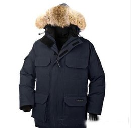Wholesale Men Parka Goose - hot selling New Men's down jacket Coat Fur Expedition parka Men's jacket and the size of the men's jacket coat cotton male hooded casual