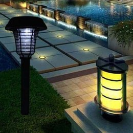 2019 giardini magici Outdoor lamp European Style Solar Lantern lampMosquito killing lamp garden outdoor lamp Purple or white Garden Decoration light D320M