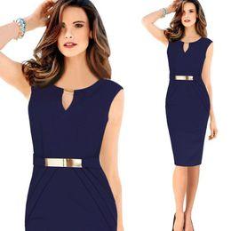 Wholesale Hot Sale Dresses For Work - Hot Sale 2015 Fashion Women Casual Dresses Sheath High Waist Pencil Dresses for OL Work Suits Slim Elegant