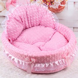 Wholesale Puppy Bedding - Lace Princess Dog Basket Bed Puppy House Pet Dream Nest Pet Kennel Luxury Cat Sofa Dog Nest Soft Cat Dog Beds HT0011