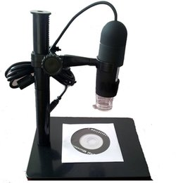 Wholesale Usb Digital Otoscope - Freeshiping 10X - 220X USB Digital Microscope Endoscope Otoscope Magnifier Camera with LED 5MP with Lifting stand Magnification Measure Tool