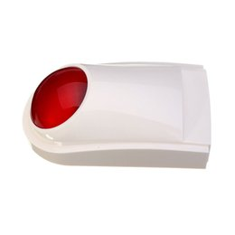 Wholesale Outdoor Alarm Siren - 1pcs 12V Wired Red Alarm Outdoor Waterproof Sound And Flash Alarm loud strobe Siren Sensors Protection