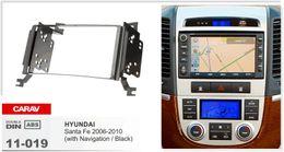 Kits de hyundai dash online-CARAV 11-019 Car Stereo Radio Fascia Plate Panel Frame Kit para HYUNDAI Santa Fe 2006-2010 Stereo facia surround instalar ajuste fit Dash Kit