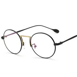 93510271183 Wholesale- Anti Blue Light Computer Glasses Gaming Glasses Round Full-Rim  Alloy Spectacles Frame Optical Frame Eyeglasses Frame gd9022