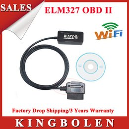 Wholesale Mini Factory Warranty - MINI ELM327 WiFi OBD-II Car Diagnostics Tool For Apple WiFi ELM 327 With Factory Price 2 Years Warranty