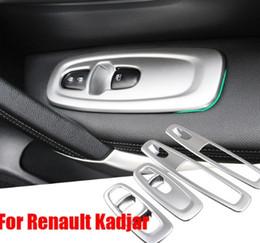 Аксессуары для аксессуаров toyota онлайн-Для Renault Kadjar 2016 2017 ABS Chrome Trim Хром Стайлинг Автомобиля Стеклоподъемники Крышки Украшения Интерьера Авто Аксессуары