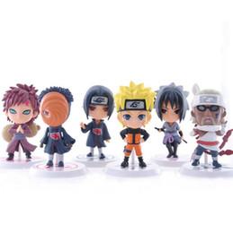 6 design de Naruto Q Edição Naruto Ação Anime Figuras brinquedos Coleção 2016 novas crianças Naruto desenhos animados PVC Figures Modelo brinquedos B001 de