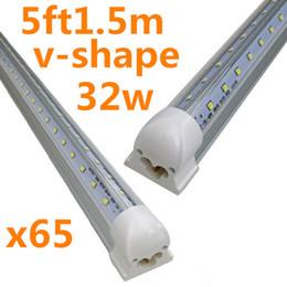 t5 tubo 12w Sconti X65Supporto refrigerante integrato 5ft 1.5m 1500mm 32W Led T8 Tube SMD2835 Alta luminosità luminosa 5 piedi 3600lm 85-265V illuminazione fluorescente