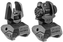 Wholesale Tactical Scopes Sights - Tactical FAB Defense FBS+RBS - Rear and Front Dual Aperture Back-Up Sights Set Black