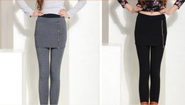 Wholesale Stretch Pants Price - Cheap price! Hot! 2015 spring women's pants fashion good stretched casual leave two pants skirt