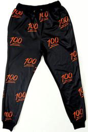 Wholesale Pant Iphone - FG1509 Women Men Fashion 3D cartoon Iphone Face Emoji 100 E Joggers Sweatpants Leisure pants Sport Slacks Trousers