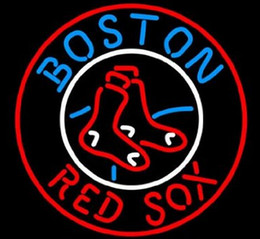 Wholesale Red Sox Light Sign - NEW BOSTON RED SOX MAN Glass Neon Sign Beer New Bar Light 17X16""