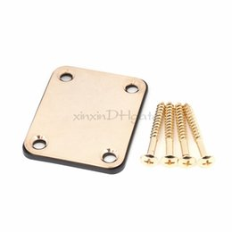 Wholesale Gold Guitar Screws - Gold Electric Guitar Neck Plates w Mounting Screws Neck Plate