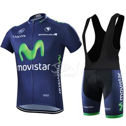 Wholesale Movistar Cycling Team - Wholesale-2015 Movistar Team Cycling Jersey Breathable Cycling Bicycle Clothing Cycle Jerseys Cycling GEL Pad Bike Bib Pants Shorts