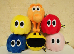 Wholesale ghost plush - Free EMS 8 inch 6 Design Pixel Wars q-bert Eat bean Little ghost Plush Doll 2015 new children Cartoon game Plush toys B