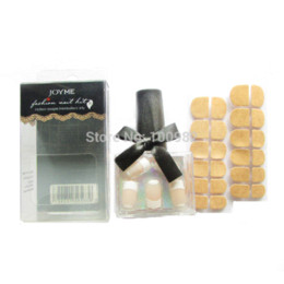 Wholesale Perfect Tape - New classical and fashion French nail perfect combination false nails beauty artistic nail tips 28 pcs with strong tapes
