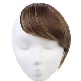 Canada 2017 droite haute température fibre synthétique extension clip de cheveux dans l'extension de cheveux 10 couleurs disponibles dégradés Bangs Offre
