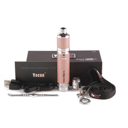 Wholesale usb tool kit - Yocan evolve plus XL Wax Vaporizer pen kit 1400mah USB line wax tool with yocan Magneto kit VS Target mini kit 0268064