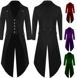 Wholesale Dovetail Dresses - Men Coat Men 's Coats Solid Colorful Steam Punk Retro Tuxedo Men Dress 2017 Autumn And Winter New High Quality