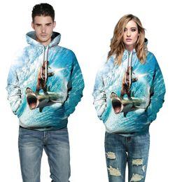 Wholesale Uniform Bear - Big bear surfing digital printing hooded sweater tide brand men and women lovers baseball uniform hoodie hoodie
