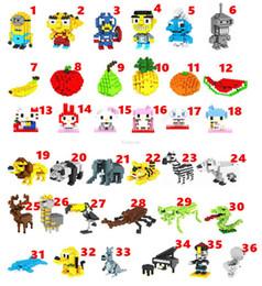 LOZ строительные блоки алмазные блоки EMS Миньон / фрукты / животные / фортепиано / зомби модель 3D головоломки мини интеллект развивающие игрушки от