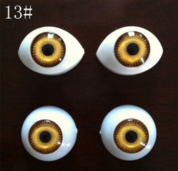 Wholesale Eyes 25mm - 20pcs=10pair DIY 22mm 13# big round shape boat 17mm*25mm acrylic BJD doll eyeballs beads Acrylic eyes for the dolls 20pcs lot