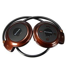 Wholesale Mini Ear Radio - Mini 503 Neckback Sport Wireless Bluetooth 4.0 Handsfree Stereo Headset Headphone Earphone FM Radio with Mic Microphone for HTC