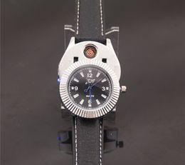 Wholesale Men Watches Eco - USB Watch Men Quartz Watches Rechargeable Cigarette Lighter USB Fashion Watches watch lighter usb lighter