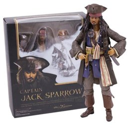 Wholesale Pirate Toy Box - SHFiguarts Pirates of the Captain Jack Sparrow PVC Action Figure Collectible Model Toy with Retail Box