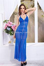 Wholesale Type Sleepwear - w1023 Sexy Lingerie auger type backless dress nightgown set long sleepwear flower