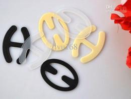 Wholesale 42 Dd Bras - Free Shipping Convertible plastic BRA Strap clip clipper backless 32 34 36 38 40 42 A B C D DD