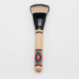 2019 densa escova de maquiagem Chegam novas 50/50 Cabra Sintética Do Cabelo Dividir Fibra 125se Vibe Tribo Denso Rosto Maquiagem Cheek Blush Brush Tool 1 pcs densa escova de maquiagem barato