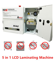 Wholesale Universal Repairs - OCA OMAG Glass Lens Touch Screen LCD 5 In 1 Plate Type Laminating Machine Repair Tool No Bubble No Need Vacuum Pump & Air Compressor & Mold