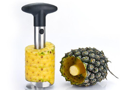 Wholesale Wholesale Pineapple Cutters - Stainless Steel Pineapple Peeler Cutter Slicer Corer Peel Core Tools Fruit Vegetable Knife Gadget Kitchen Accessories Spiralizer