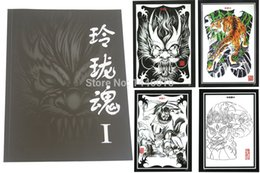 Wholesale Painting Magazines - Wholesale-Yuelong New Pro LINGLONG Soul chinese painting book Tattoo Flash Book Magazine A4 Size Soul I Free Shipping