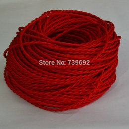 Wholesale Vintage Electrical - Wholesale-10m lot Multicolor Vintage lamp cord electrical wire copper wire DIY accessories pendant light electrical wire braided