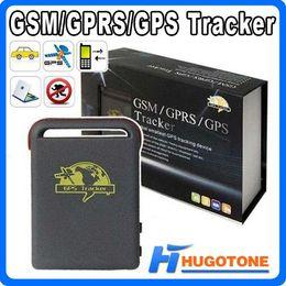Wholesale Pets Canada - Quadband Car GSM GPS Tracker Chargeable Multifunctional GPRS TK102 Children Pet GPS Locator Vehicle Shock Sensor Alarm Tracking Device
