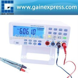 Wholesale Bench Dmm - VICHY VC8145 DMM Digital Bench Top Multimeter Temperature Meter Tester PC Analog 80,000 counts Analog Bar Graph w  23 segments