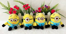 Wholesale Despicable Stuffed Animals - hot sale 12cm Despicable Me stuffed toys Despicable Me Minions Stuffed Animals Cartoon lovely Keychain Plush Toys