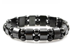 Wholesale Magnet Health Bracelets - SZ9 Radiation protection tourmaline bracelet health Black Tourmaline unisex magnet therapy women bracelet men retail and wholesale