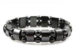 Wholesale Black Magnet Bracelet - SZ9 Radiation protection tourmaline bracelet health Black Tourmaline unisex magnet therapy women bracelet men retail and wholesale