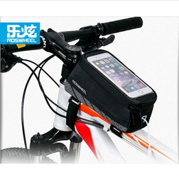 """Wholesale Mtb Frame Bag Pannier - ROSWHEEL 6th Generation 5.2"""" 5.7"""" Cycling Bike Bicycle bags panniers Frame Front Tube Bag MTB Bike Touch Screen Phone Case 12496"""