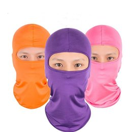 Wholesale pink balaclavas - Windproof hood CS mask outdoor sports cap Lycra with the same paragraph riding fishing ski hat Balaclavas Christmas mask full face mask