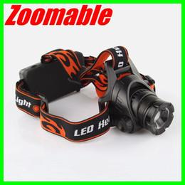 Wholesale U2 Led - New Zoomable Headlamp CREE XM-L2 U2 LED Rotating Retractable Zoom Bike Light Free Shipping