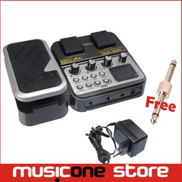 Wholesale Eq Effect Pedal - NUX MG-100 Modeling Guitar Processor Guitar Multi Effects Pedal Processor EFX AMP EQ Mixer 58 Effec Musical Instrument Free shipping MU0164