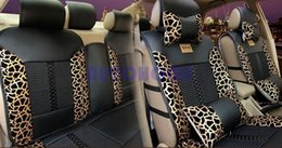 Argentina 1 Set X General Universal Asiento de coche de moda cubierta de aguja de cuero de la PU asiento de amortiguador negro con oro $ 18no track cheap black gold seat covers car Suministro
