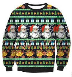 Wholesale men s christmas clothes - New Women Autumn Winter Clothes Women Christmas Xmas Jumper Top Harajuku Snowflake Printed Sweatshirts Outfit