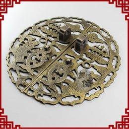 Wholesale Chinese Door Handle Locks - Classic mahogany furniture pieces of copper metal door handle door lock card Chinese antique 2299