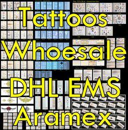 Wholesale Temporary Tattoo Shipping - 100pcs lot Temporary Tattoo Wholesale High Quality Waterproof Flash Metallic Tattoos Gold Jewelry Tattoo, Ship By DHL FEDEX Aramex EMS